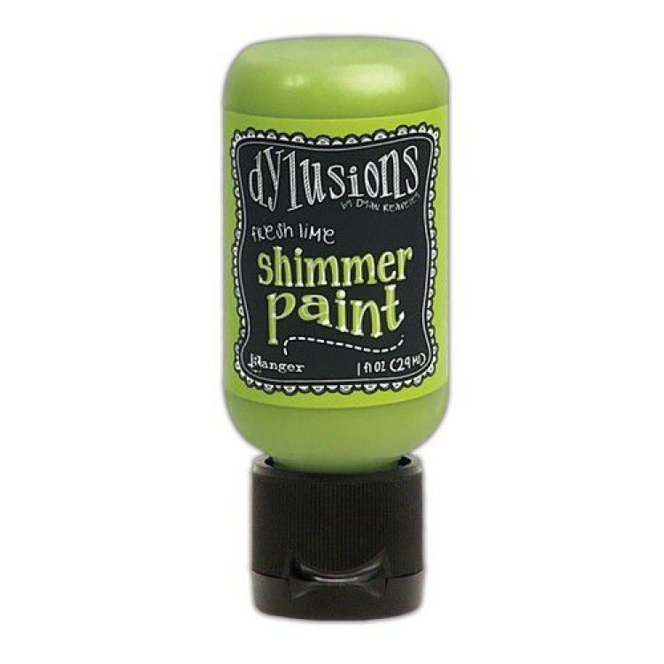 Dylusions Shimmer Paint Fresh Lime